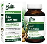 Gaia Herbs Saw Palmetto, Vegan Liquid Capsules, 60 Count - Prostate Health Supplement for Healthy Male Hormone Balance, Berry Supercritical Extract, Full Spectrum Potency