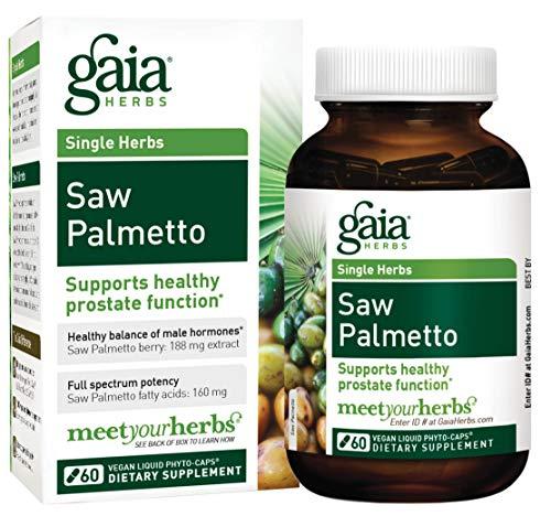 Gaia Herbs Saw Palmetto Liquid Phyto-Capsules, 60 Count