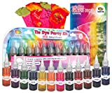 Doodlehog Easy Tie Dye Party Kit for Kids, Adults, and Groups. Create Vibrant Designs with Non-Toxic Dye. 12 Colors Included. Beginner-Friendly. Just Add Water. Dye up to 10 Medium Kids T-Shirts: more info