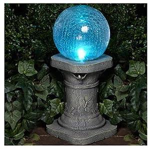 Amazon Com Glass Solar Gazing Ball Garden Amp Outdoor