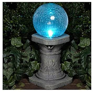 Amazoncom Glass Solar Gazing Ball Patio Lawn Garden