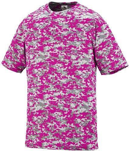 - Augusta Sportswear Men's Digi camo Wicking t-Shirt, Power Pink, Small