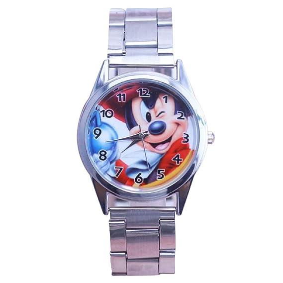 GIO449 Reloj Analogico Cuarzo Mickey Mouse Pulsera Cuero ...