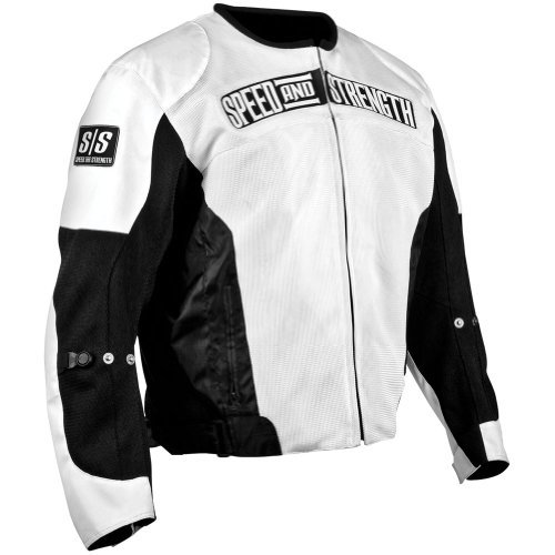 Speed and Strength Trial By Fire Mesh Motorcycle Jacket XX-Large (Size 48) White