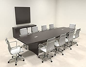 Modern Contemporary Boat Shape 12' Feet Conference Table, #RO-ABD-C12