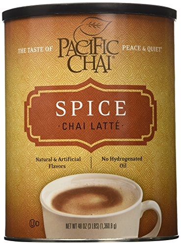Pacific Chai Spice 3-pound Canister, Instant, Powdered (Drinks Hot Tassimo)