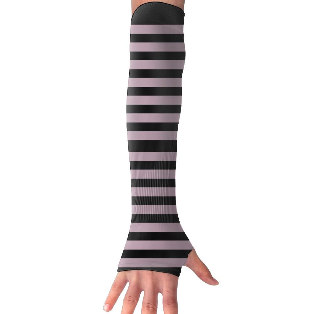 ZPENG Arm Sleeves Luxury Fun Stripe Women's Anti-uv Sun Protection Protection Hand Cover Fingerles Gloves by ZPENG (Image #1)