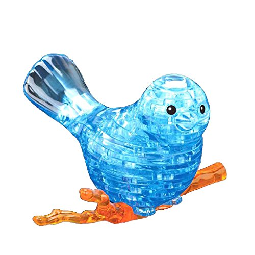 Jesse Puzzle Blocks 3D Bird Creative Learning DIY Hand Toy for Adults Kids Women Men Boys Girls Blue