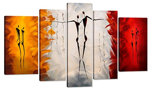 Home Art Contemporary Art Abstract Oil Paintings Reproduction Giclee Canvas  Prints Framed Canvas Wall Art For Home Decor 5 Panels Wall Decorations For  ... Part 45