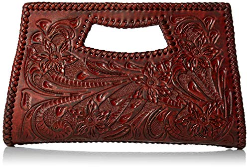Mauzari Women's Hand Tooled Leather Clutch ()