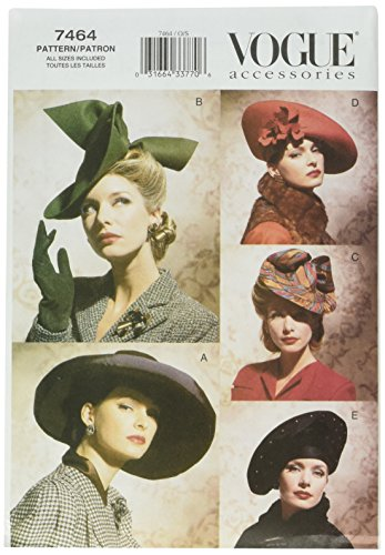 Vogue Patterns V7464 Vintage Hats, All Sizes (Vintage Hat Patterns)