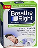 Breathe Right Nasal Strips, Extra Clear for Sensitive Skin 26 ea (Pack of 10)