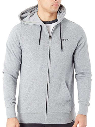Etnies Sweatshirt Mens (Etnies Men's Core Icon Hoody Zip Sweatshirts,X-Large,Grey/Heather)