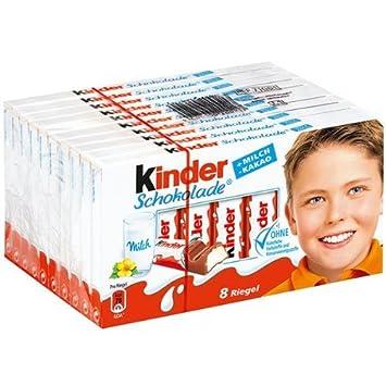 Amazon.com : Kinder Chocolate Milk and Cocoa Chocolate 8 Bars Pack ...