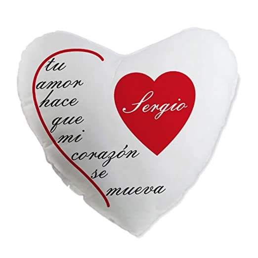 Cojín Personalizado en Forma de corazón, el Regalo más ...