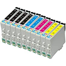 10 Pack - Remanufactured Ink Cartridges for Epson #60 T060 60 T060120 T060220 T060320 T060420 Inkjet Cartridge Compatible With Epson Stylus C68 Stylus C88 Stylus C88Plus Stylus CX3800 Stylus CX3810 Stylus CX4200 Stylus CX4800 Stylus CX5800F