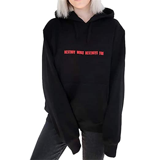Harajuku Women Hoodies Causal Letter Printed Oversized Sweatshirt at Amazon Womens Clothing store: