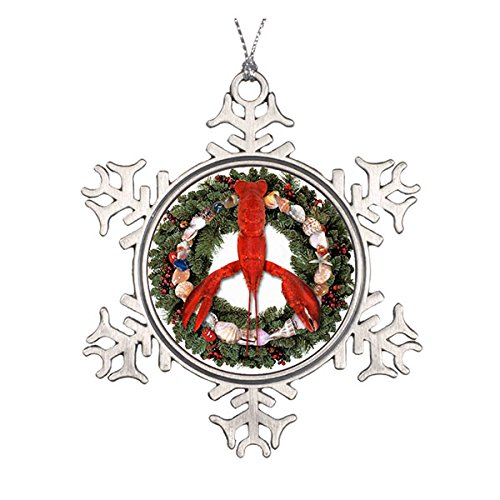 Lobster Peace Christmas Wreath Best Christmas Pewter Snaoflake Ornament And Gift Decor