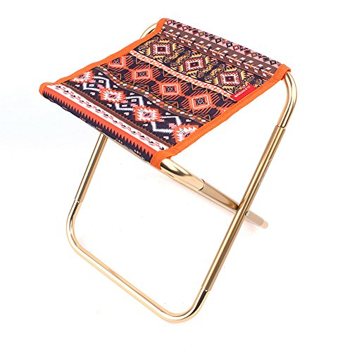 - WSSF- Outdoor Aluminum Alloy Camping Stool Folk Style Mini Adult Footstool Small Mazar Portable Barbecue Beach Picnic Fishing Stool (Color : #2)