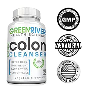 Gentle Colon Detox Cleanse Most Effective 30 Day Cleanse With No Harsh Side Effects Made In The USA with Guaranteed Results to Flush Toxins, Lose Weight and Promote Digestive Health The Natural Way - 60 Capsules