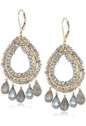 Dana Kellin Luxurious Labradorite and Green Quartz Adorned Earrings