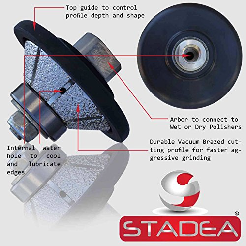 STADEA Diamond Profile Wheel / Profile Grinding Wheel 45 degree / Bevel 15 MM 9/16