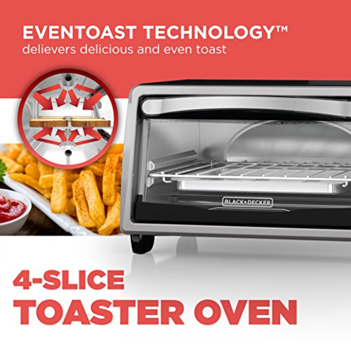 Black and Decker TO1313SBD 4-Slice Toaster Oven