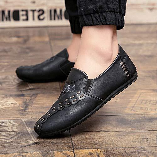 tamaño Hombre marrón Qiusa Antideslizantes Negros de 43 Color Suela para de Oscuro Suave Color EU Negro Zapatos Gris Mocasines CwPwXqZ