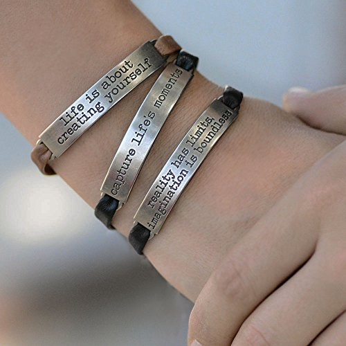 Sweet Romance Trust in the Lord Prov 3:5 Inspirational Leather Band Bible Message Bracelet (Black Leather) by Sweet Romance (Image #7)