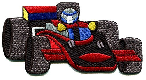 (Sports car racing race exotic formula one 1 retro embroidered applique iron-on patch new)