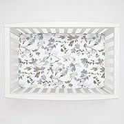 Carousel Designs Soft Wildflower Mini Crib Sheet 5-Inch-6-Inch Depth - Organic 100% Cotton Fitted Mini Crib Sheet - Made in the USA
