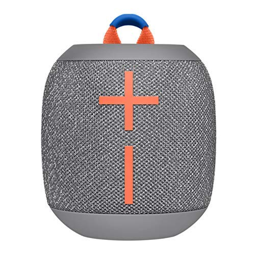 Ultimate Ears WONDERBOOM 2 Portable Waterproof Bluetooth Speaker (Crushed Ice Gray) with Knox Gear Padded Protective Case, 6 ft. Cable and Wall Plug