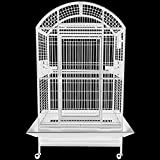 KING'S CAGES 9003628 DOME TOP PARROT CAGE With New Locks MACAWS COCKATOOS AMAZONS (WHITE)