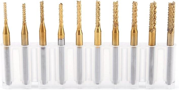 7 Stück Schaftfräser Set 1mm Hartmetall Schaft 4 Flöte CNC Fraeser Schneiden