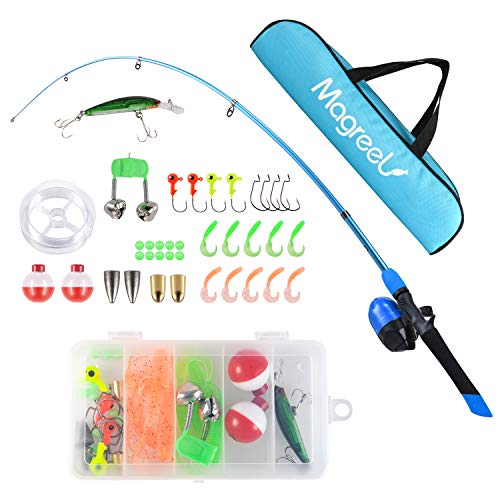 - Kids Fishing Pole,Light and Portable Telescopic Fishing Rod and Reel Combos for Youth Fishing (120CM-47in)