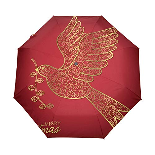 - senya Automatic Open Close Umbrella Filigree Christmas Anti-UV Umbrellas Compact Folding Travel Windproof Protection