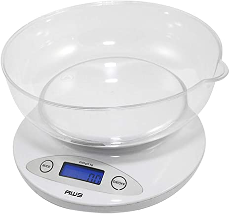 American Weigh Scales 72182 2k Bowl White Kitchen Scale Amazon Ca Home Kitchen