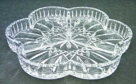 Waterford Lismore 3 Part Divided Relish Dish Plate (Three Part Relish Dish)