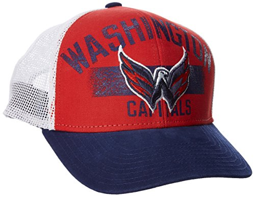 fan products of NHL Washington Capitals Men's SP17 City Name Trucker Cap, Red, One Size