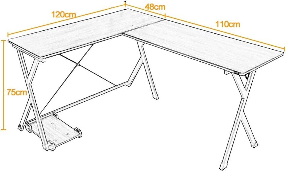 Light Oak BHEU-ZJ1-MO sogesfurniture Computer Desk L-Shaped Corner Desk Computer Workstation Large PC Laptop Table Study Table Gaming Desk for Home and Office