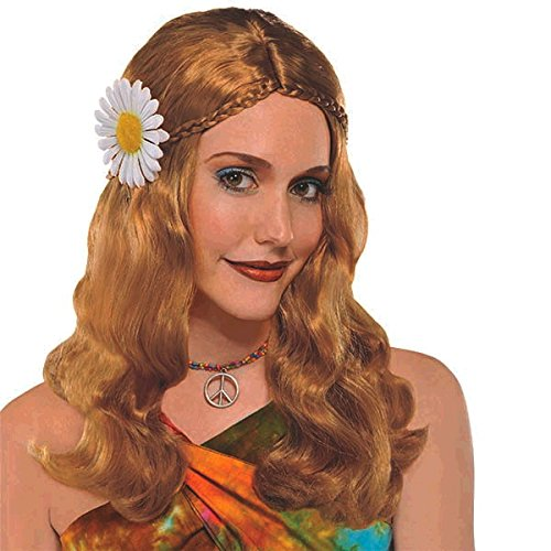 Groovin '60s Costume Party Hippie Chick Wig, Strawberry Blonde, Synthetic Fiber, 1-Piece