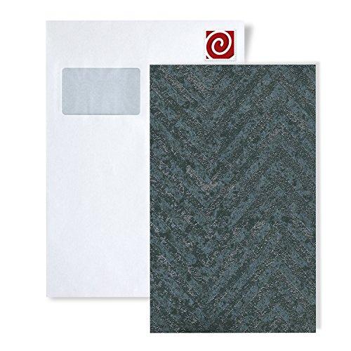 Muestra de papel pintado ATLAS serie 5505 | papel pintado con rayas con dibujo en espiga y acentos metálicos,...