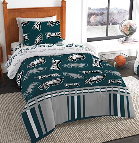 Northwest NFL Philadelphia Eagles Bed in a Bag Complete Bedding Set, Twin #986340689 -
