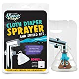 Diaper Dawgs Premium Dual Mode Cloth Diaper Sprayer – Includes Patented Germ AND Splatter Shield – A Powerful Diaper Washer Hand Held Bidet Sprayer for Cloth Diapers