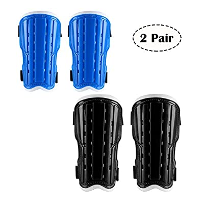 2 Pair Youth Soccer Shin Guards, Kids Soccer Shin Pads Board? Lightweight and Breathable Child Calf Protective Gear Soccer Equipment for 6-10 Years Old Boys Girls Children Teenagers