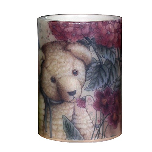 Led Candle Flameless Candle Electronic Candle Lantern Lamp Chirldren bedroom Lights Home decoration lovely bear battery operated timer,3x4 inches