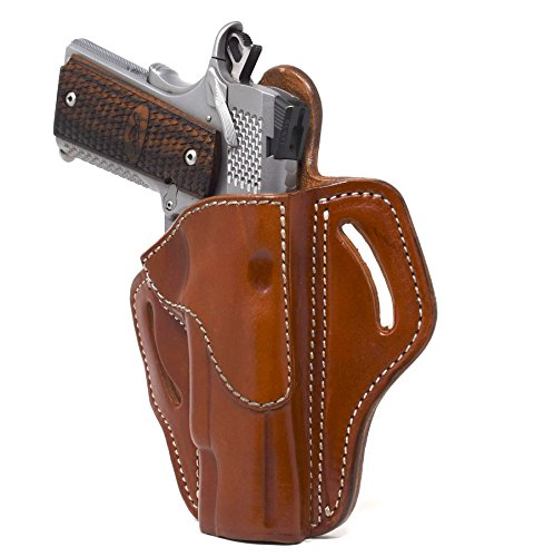 "1791 BH1-CBR-R GUNLEATHER 1911 Holster, Right Hand OWB Leather Gun Holster for Belts fits All 1911 Models with 4"" and 5"" Barrels (Classic Brown)"