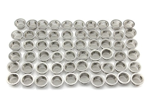 DeYue Crystal Pipe Screens, 60pcs 0.5Inch Diameter Premium Stainless Steel Mental Screen Filters for Crystal Pipe Use (60) by DeYue