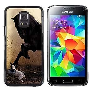 Paccase / Dura PC Caso Funda Carcasa de Protección para - Pegasus Jack Russell Painting Horse Mustang - Samsung Galaxy S5 Mini, SM-G800, NOT S5 REGULAR!