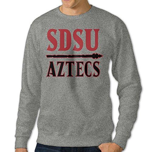 BestGifts Men's San Diego State University Crewneck Sweatshirts Ash Size 3X